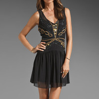 Plenty by Tracy Reese Flapper Beaded Shift Dress in Black from REVOLVEclothing.com