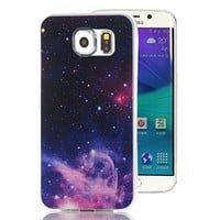 Samsung Galaxy S6 Edge Case, Ludan Dream Catcher Series Painted Star Premium Slim TPU Flexible Soft Back Case Cover for 5.1 inches Samsung Galaxy S6 Edge G9250