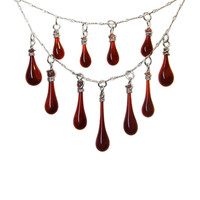 Garnet Tiered Necklace