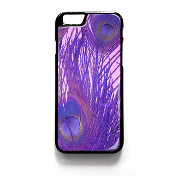 Peacock Feather Purple iPhone 4 4S 5 5S 5C 6 6 Plus , iPod 4 5  , Samsung Galaxy S3 S4 S5 Note 3 Note 4 , and HTC One X M7 M8 Case