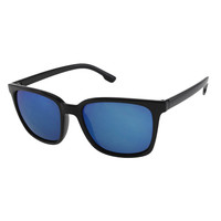 Unisex Sports Style Sunglasses with Rainbow Color Mirror Lenses