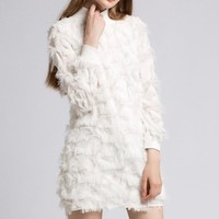 Long Sleeves Puffy Dress