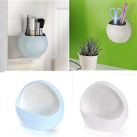 Cute Eggs Design Toothbrush Holder Suction Hooks Cups Organizer Bathroom Accessories Toothbrush Holder Cup Wall Mount Sucker