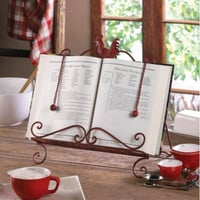 Country Rooster Recipe Book Stand