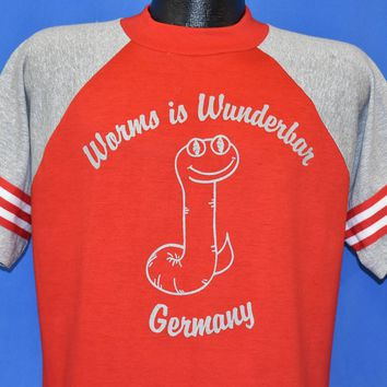 80s Worms Is Wunderbar Jersey t-shirt Large