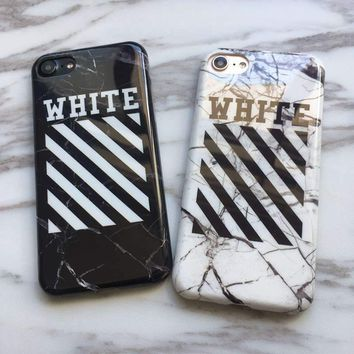 Marble OFF-WHITE OFF WHITE Abloh Kanye West Case for iPhone 6s 6 Plus 7 8 Plus X