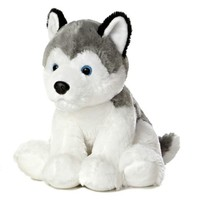 "Aurora Medium Stuffed Animal 14"" Husky Item # 50269 NWT"