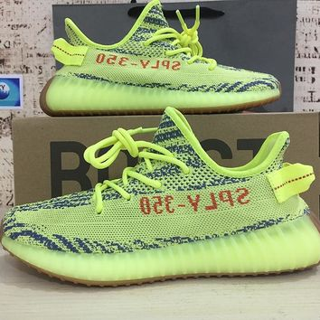 "a438d096b99b6 Adidas Yeezy Boost 350 V2 ""Semi Frozen Yellow"" Running Shoes- Best Deal  Online"