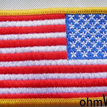 20049 American Flag / United States Flag Iron On Patches - Guaranteed 100% Quality Appliques Custom Iron-on Patches20047