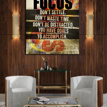 Focus Don't Settle You Have Goals To Accomplish Canvas Wall Art