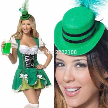 Cheap Women German Fashion magic ladies adult Dress Oktoberfest costume Cosplay maid uniforms beer halloween women Free shipping