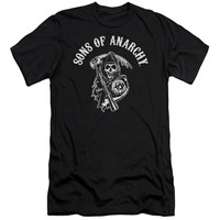 SONS OF ANARCHY/SOA REAPER-S/S ADULT 30/1-BLACK