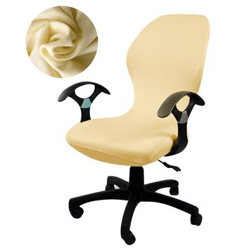Universal size solid color chair cover Computer Office printed armchair Slipcovers seat Arm Chair Covers Stretch Rotating Lift