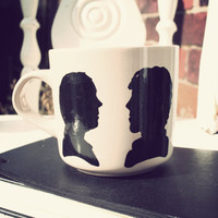 Sherlock silhouette mug hand drawn by Mr Teacup by MrTeacup