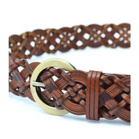 Fashion hollow braided leisure belt, suitable for men and women