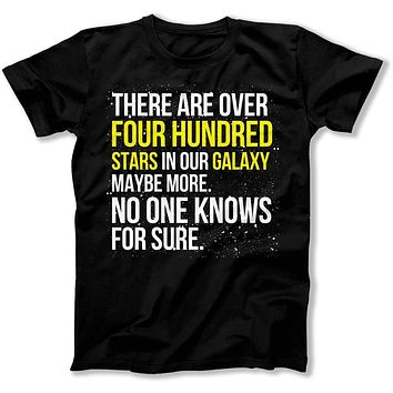 There Are Over Four Hundred Stars In Our Galaxy, Maybe More - T Shirt