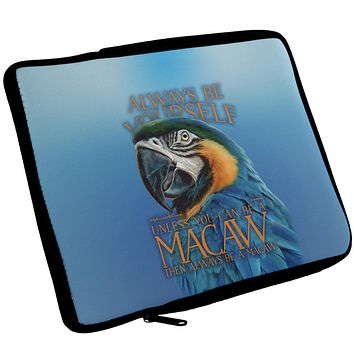Always Be Yourself Unless Exotic Blue Macaw iPad Tablet Sleeve