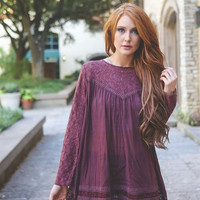 Zzz - Sheer Lace Boho Tunic