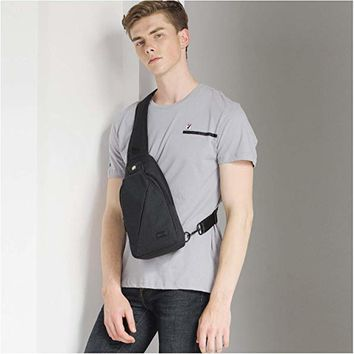 Sling Bag Pack, Chest Shoulder Crossbody Hiking Backpack Sport Bicycle Rucksack School Daypack for Men Women T609