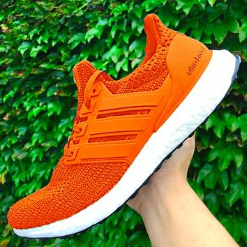 Adidas Ultra Boost Fashion Women Casual Sport Running Shoes Sneakers Orange