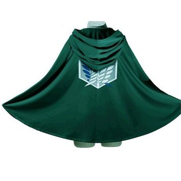 Cool Attack on Titan  Costume Green Cloak Japanese Anime Cosplay No  Hoodie Eren Levi Mikasa Cloak Scout Legion Coat AT_90_11