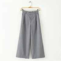 Summer Women's Fashion With Pocket High Rise Pants