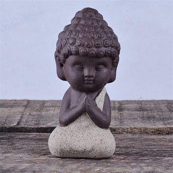Small Buddha Statue Monk Figurine