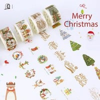 1.5/3cm*7 Merry Christmas tree washi tape DIY decorative scrapbooking planner masking adhesive tape label sticker stationery