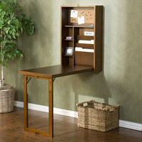 Wildon Home ® Alpine Fold-Out Convertible Writing Desk in Walnut