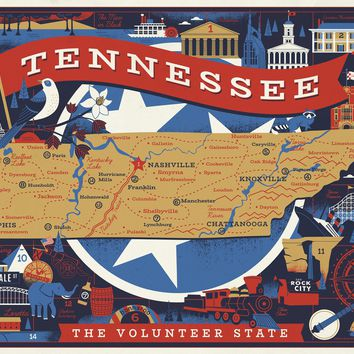 Tennessee Volunteer State, 500 Piece Jigsaw Puzzle