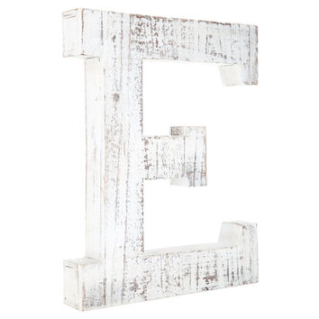 Whitewashed Wood Letter Wall Decor - E | Hobby Lobby | 1329267