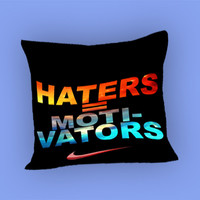 Nike Haters Motivation Nebula Galaxy for Pillow Case, Pillow Cover, Custom Pillow Case **