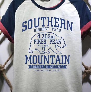 hcxx 1506 SOUTHERN MOUNTAIN High definition printed multi-point patchwork T-shirt