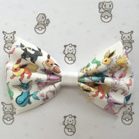 Eeveelutions Pokemon Inspired Hair Bow or Bow Tie
