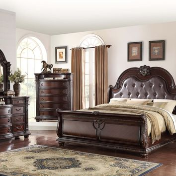 Stanley Sleigh Marble King Bedroom Set