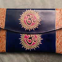 Om Leather Clutch, Wallet & Coin Purse Set