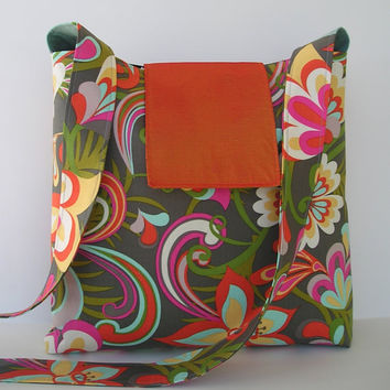 Messenger Bag Tangerine by jazzygeminis on Etsy