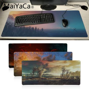 MaiYaCa Download The Witcher 3 sunset Landscape gamer play mats Mousepad anime Design Pattern Computer Mousemat Gaming Mouse Pad