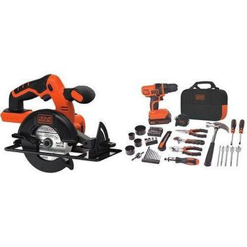 BLACK+DECKER LDX120PK Lithium-Ion Drill and Project Kit w/ BDCCS20B Circular Saw