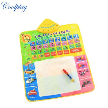 1 Pcs Non-toxic Water Drawing Board Musical Play Mat with 1pcs Magic Pen Multi-functional Reusable Educational toys For Kids