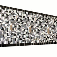 Three Hook Mosaic Coat Rack, Wall Fixture, Home Decor