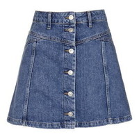 PETITE Button Through Skirt - Topshop