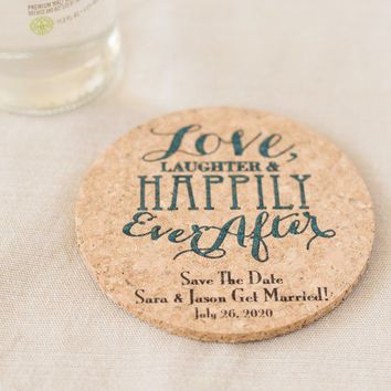 Personalized Coasters, Custom Cork Coasters, Cork Personalized Coasters