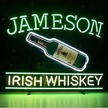 Urby™ Jameson Irish Whiskey Real Glass Neon Light Sign 18''x14'' A12-08