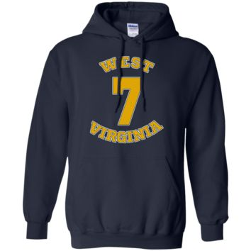WILL GRIER #7 WEST VIRGINIA FOOTBALL JERSEY SWEATSHIRT HOODIE