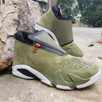 Air Jordan 14 Zipper Style - Army Green