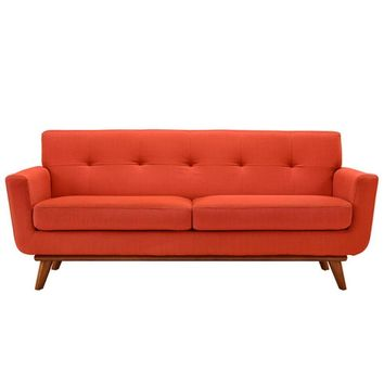 Engage Upholstered Loveseat, Atomic Red