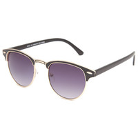 Full Tilt Audrey Club Sunglasses Black/Gold One Size For Women 24098477401