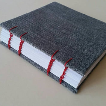 Handmade soft suede notebook