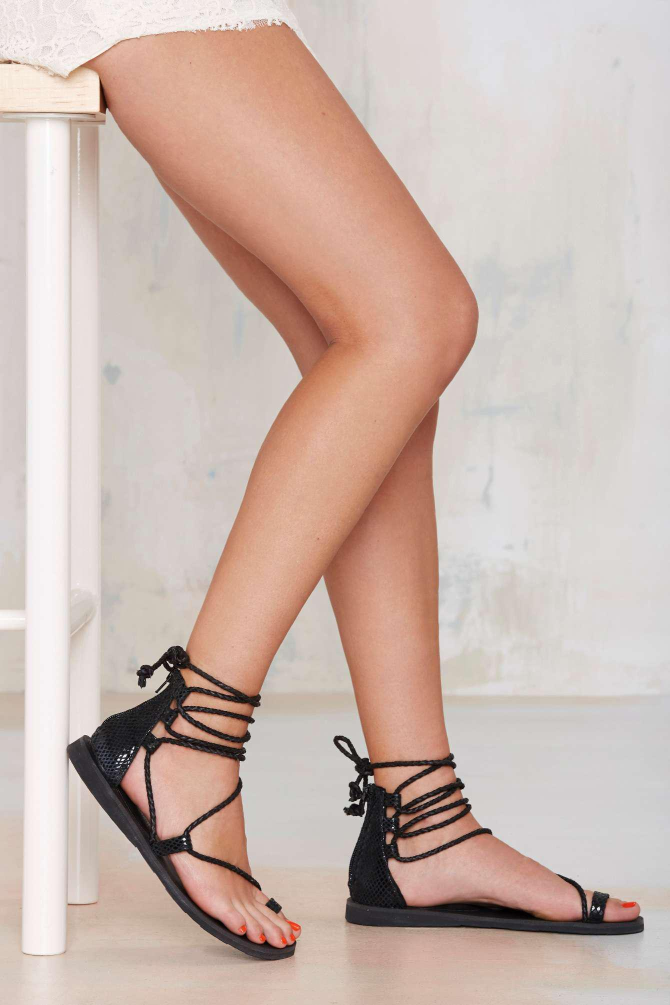 Jeffrey Campbelladios Lace Up Leather From Nasty Gal Quick